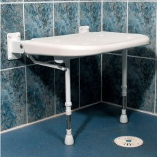 AKW 4000 Series Larger Extra Wide Shower Seat - White Unpadded