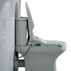 AKW Bidet Side Entry Ergonomic Seat and Lid - White