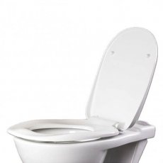 AKW Ergonomic Soft Close Toilet Seat including Cover - White