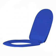 AKW Ergonomic Soft Close Toilet Seat including Cover - Blue