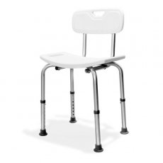AKW Freestanding Shower Seat with Back Support