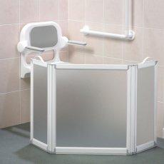 AKW Freeway 3 Panel Portable Shower Screen, 2x350mm x 700mm, 750mm High