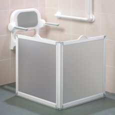 AKW Freeway 2 Panel Portable Shower Screen, 650mm x 650mm, 750mm High