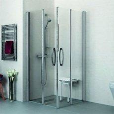 AKW Larenco Bi-Fold Shower Door Only, 1000mm Wide, Left Handed