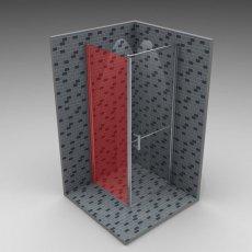 AKW Larenco Duo Fixed Panel Shower Door, 1100mm Wide, Non-Handed