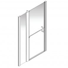 AKW Larenco Alcove Full Height Duo Extended Shower Door 1300mm Wide - Non Handed