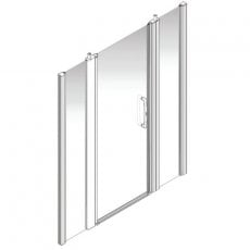 AKW Larenco Alcove Full Height Extended Shower Door 1700mm Wide - Non Handed