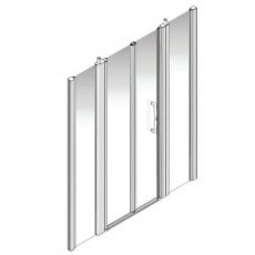 AKW Larenco Alcove Full Height Bi-Fold Extended Shower Door 1700mm Wide - Non Handed