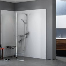 AKW Level Best Wetroom Screen 900mm W with 350mm Deflector Panel