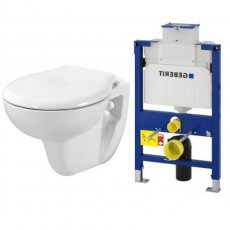 AKW Livenza Wall Hung Toilet Geberit Duo Fixing Frame with Concealed Cistern