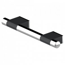 AKW Onyx Duo Straight Grab Rail 600mm Length - Black/Chrome