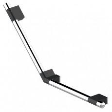 AKW Onyx Duo 135 Degree Angled Grab Rail 450mm x 450mm - Black/Chrome