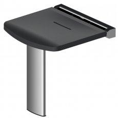 AKW Onyx Fold Up Shower Seat - Black