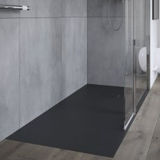 AKW Onyx Rectangular Shower Tray 1200mm x 800mm - Black