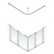 AKW Option E 750 Shower Screen 1000mm x 800mm - Left Handed