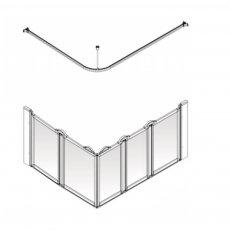 AKW Option E5 750 Shower Screen 1400mm x 900mm - Right Handed