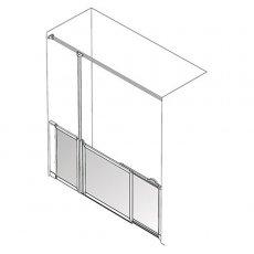 AKW Option SU Sliding Shower Screen, 1700-1800mm Wide, Left Handed