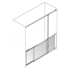 AKW Option SU Sliding Shower Screen, 1700-1800mm Wide, Right Handed
