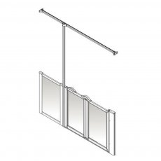 AKW Option Z 900 Shower Screen 1850mm Wide - Left Handed