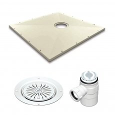 AKW SureForm Rectangular Wetroom Floor Former with Waste and Vinyl Adaptor 1800mm x 820mm