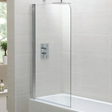 April Identiti2 Single Bath Screen 1400mm H x 800mm W - 6mm Glass