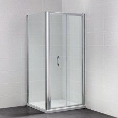 April Identiti2 Bi-Fold Shower Door 1000mm Wide - 6mm Glass