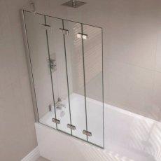 April Prestige Frameless 4-Panel Folding Bath Screen 1500mm High x 965mm Wide Left Handed