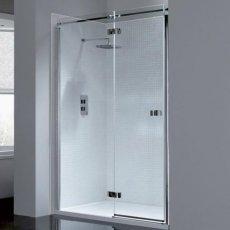 April Prestige2 Frameless Hinged Shower Door 1000mm Wide Left Handed - 8mm Glass