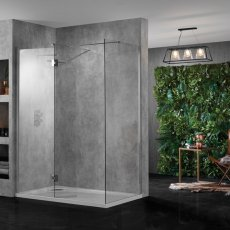 Aquadart Wet Room Panel 1400mm Wide - 10mm Clear Glass
