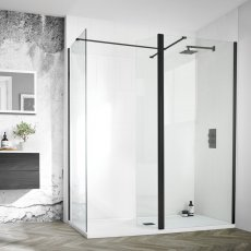 Aquadart 8 Wet Room Panel 1200mm Wide - 8mm Clear Glass