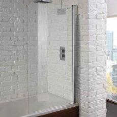 Aquadart Venturi 6 Single Curved Bath Screen 1400mm High x 800mm Wide - 6mm Glass