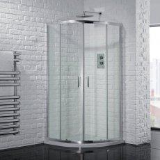 Aquadart Venturi 6 Double Sliding Offset Quadrant Shower Enclosure 900mm x 760mm - 6mm Glass