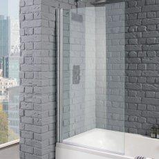 Aquadart Venturi 8 Square Edge Bath Screen 1400mm H x 800mm W - 8mm Clear Glass