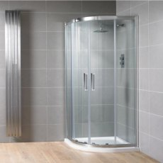 Aquadart Venturi 8 Double Sliding Offset Quadrant Shower Enclosure 900mm x 760mm - 8mm Glass