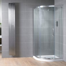 Aquadart Venturi 8 Single Offset Quadrant Shower Enclosure 900mm x 760mm - 8mm Glass