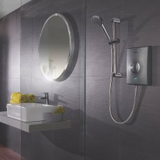 Aqualisa Quartz 10.5kW Electric Shower with Adjustable Height Head Chrome / Graphite