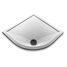 Aqualux AQUA25 Sphere Quadrant Shower Tray, 900mm x 900mm, Stone Resin
