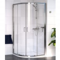 Aqualux Shine 6 Quadrant Shower Enclosure 900mm x 900mm Silver Frame - Clear Glass