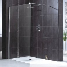 Aqualux Shine 6 Wet Room Shower Panel, 1000mm Wide, 6mm Clear Glass