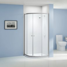 Aquashine Quadrant Shower Enclosure 900mm x 900mm - 6mm Glass