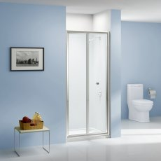 Aquashine Bi-Fold Shower Door 760mm Wide - 6mm Glass