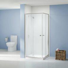 Aquashine Corner Entry Shower Enclosure 800mm x 800mm - 6mm Glass
