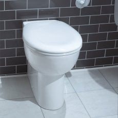 Arley Comfort Raised Height Back To Wall Pan 355mm Wide - Soft Close Seat