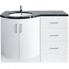 Arley Sparkle Combination Unit with Drawer Unit 1215mm Wide - Left Handed