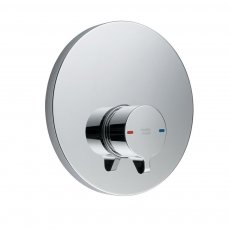 Armitage Shanks Avon 21 Self Closing Push Button Shower Valve with Concealing Plate - Chrome