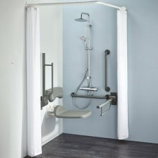 Armitage Shanks Contour 21 Doc M Pack with TMV3 Exposed Shower Valve and Dual Shower Kit - Grey Rails