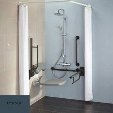 Armitage Shanks Contour 21 Doc M Pack with TMV3 Exposed Shower Valve and Dual Shower Kit - Charcoal Rails