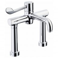 Armitage Shanks Markwik 21 Plus Thermostatic Pillar Mounted Basin Mixer with Lever Fixed Spout
