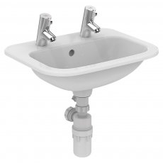 Armitage Shanks Planet 21 Countertop Basin 500mm Wide - 2 Tap Hole