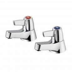 Armitage Shanks Sandringham 21 Lever Head Bath Taps Pair - Chrome